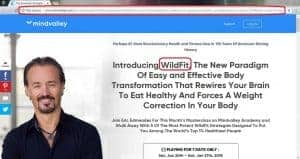 Mindvalley Wildfit endorsement and masterclass page