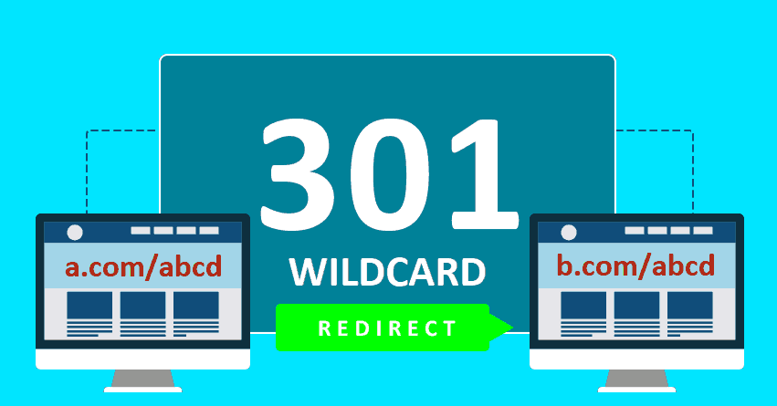 How to do a wildcard 301 redirect for a domain while keeping the same URL structure